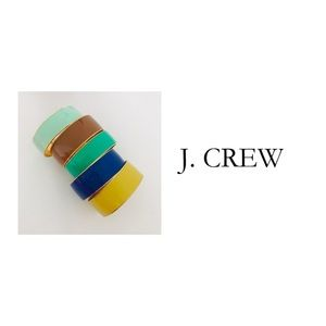 J crew colorful bangle lot of 5